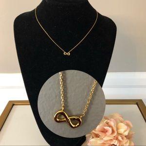Argento Vivo gold infinity necklace